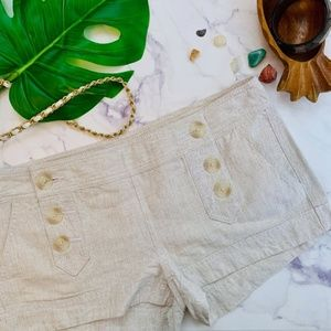 Express Linen Sailor Shorts in Oat